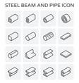 steel beam pipe vector image vector image