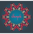 Stylized mandala frame with place for text vector image vector image