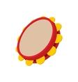 Tambourine icon cartoon style vector image