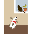 The dog and cat vector image vector image
