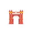 vintage triumphal arch icon vector image