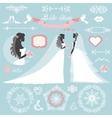 Wedding bridal shower winter decor set vector image vector image
