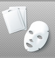 white sheet facial cosmetic mask and blank vector image