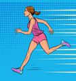 white woman athlete runs sports and health vector image