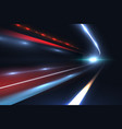 car speed lines light trails tragic of long vector image
