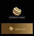 sphere abstract technology gold logo vector image