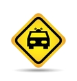 traffic sign concept icon car service vector image