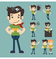 set of man relax eps10 format vector image