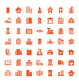 49 apartment icons vector image vector image