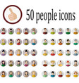 50 people icons vector image