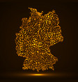 abstract map of germany with glowing particles vector image vector image