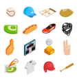American football isometric 3d icons vector image vector image