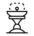 architecture drink fountain icon outline style vector image vector image