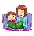 Bed Time Story vector image vector image