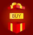 big sale open gift box concept of prize or bonus vector image vector image