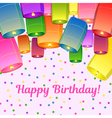 Bitrhday greeting card vector image vector image