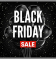 black friday sale discount promo balloons red vector image vector image