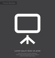 board premium icon white on dark background vector image vector image