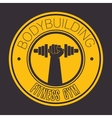 bodybuilding fitness gym icon vector image vector image