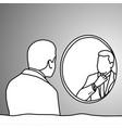 businessman looking at mirror in bathroom vector image