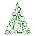 Christmas card Xmas tree vector image vector image