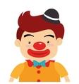 circus funny clown cartoon design vector image