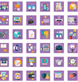 collection of colorful flat business and finance vector image vector image