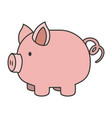 colorful silhouette of piggy bank vector image vector image