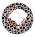 covid19 virus hole circle rio grande do sul state vector image vector image
