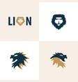 creative lion head design logo concept vector image vector image