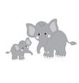 Cute Elephants vector image vector image