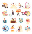 deadline time-limit icons set vector image vector image
