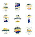 design templates set for australia day 26th vector image