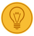 electric bulb gold coin vector image vector image