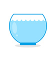 Empty aquarium fish Glass vessel for keeping vector image