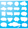 Empty speech bubbles paper vector image vector image