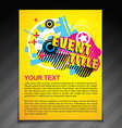 event brochure flyer vector image