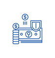 finance protection line icon concept finance vector image vector image
