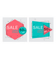 flat geometric bannerstrendy abstract background vector image vector image