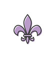 fleur de lis icon design template isolated vector image