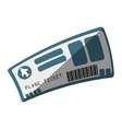 flight ticket isolated icon vector image vector image