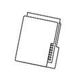 folder file organizer technology data storage vector image