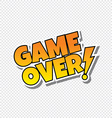 game over cartoon text sticker vector image vector image