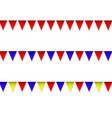 garland with colorful pennants vector image