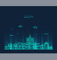 goa skyline india linear style vector image vector image