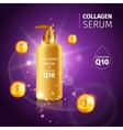 Gold Collagen Serum Tubes Poster vector image vector image