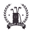 golf tournament and club logo labe vector image vector image