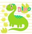 Green dinosaur Dinosa vector image vector image