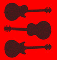 guitar silhouette background vector image