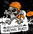 halloween poster costume party skull vector image